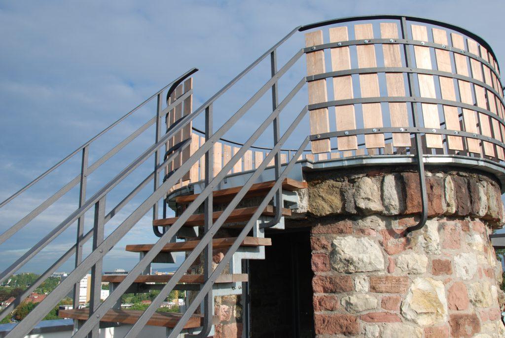 Turm Treppe außen
